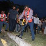 Tres Obras más pone en marcha Felipe Cruz, de lumbrado público, pavimentación y ampliación de bocatormentas