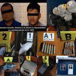 Se asegura gran cantidad de droga y arma; hay dos detenidos, En cateo